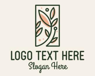 Frame - Organic Leaves Spa Frame logo design