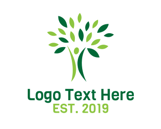 Environmentalist - Nature Tree Person  logo design