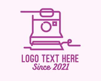 Image - Purple Polaroid Camera logo design