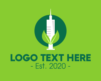 Vaccination - Green Natural Vaccine logo design