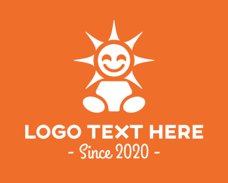 Maternity - Happy Sun Child logo design