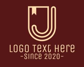 Shield Banner Letter J Logo