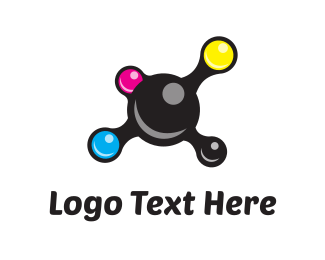 Printer - Ink Circles logo design