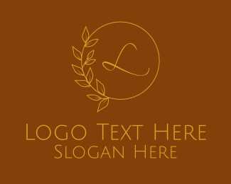 Spa - Gold Spa Wellness Letter logo design