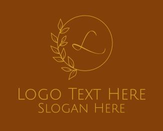 Wedding Coordinator - Gold Spa Wellness Letter logo design
