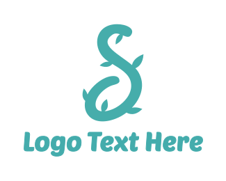 Vine - Blue S Vine logo design