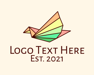 Eagle - Colorful Line Art Bird logo design