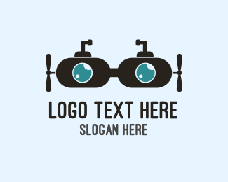 Eye Center - Submarine Goggles  logo design