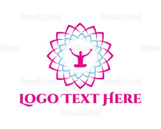 Amazing - Meditation Flower logo design