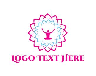Zen - Meditation Flower logo design