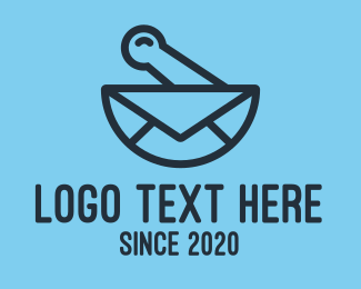 Mailing - Blue Mixing Bowl Mail logo design