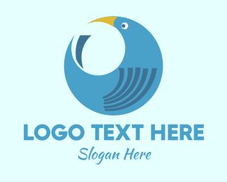 Blue Bird - Round Blue Bird logo design