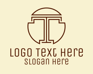 Simple - Classic Simple Letter T  logo design