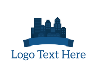 Metropolis - Blue City logo design