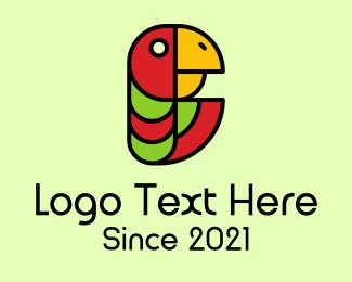 Jungle - Jungle Parrot Mascot logo design