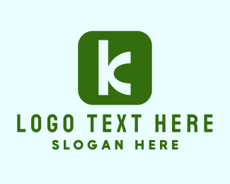 App - Letter K App logo design