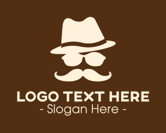 Facial - Mysterious Moustache Guy logo design