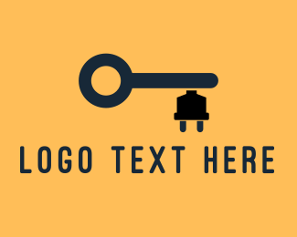 Key - Electric Key logo design