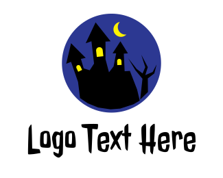 Midnight - Spooky House logo design