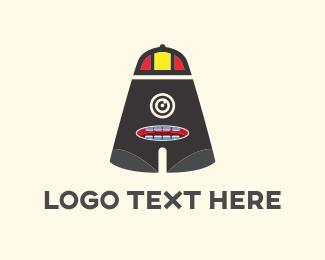 Lens - Letter A Monster logo design