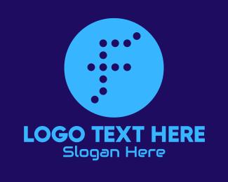 Letter F - Dotted Letter F logo design