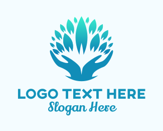 Teal Abstract Wellness Spa Logo Maker