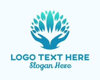 Wellness - Wellness Spa Healing Hands logo design
