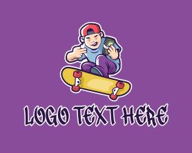 Rich Skater Boy  Logo