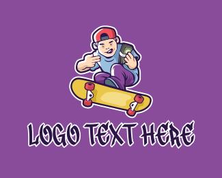 Skater - Rich Skater Boy logo design