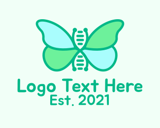 Doctor - Butterfly DNA Strand  logo design