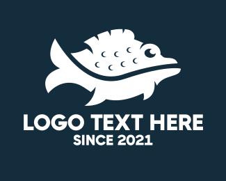Aquatic - Wild Fish logo design