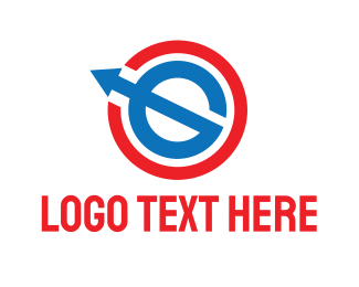 Global - Global E Arrow logo design