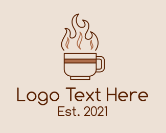 Dark - Hot Dark Roast Coffee logo design