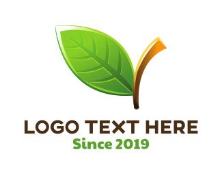 Salad - Green Leaf logo design