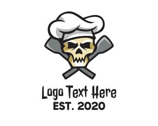 Executive Chef - Skull Cuisine Chef  logo design