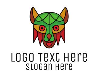 Tiger - Mosaic Colorful Tiger logo design