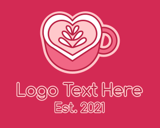 Coffee Date - Heart Coffee Mug logo design