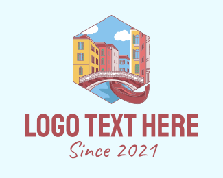 Tourist Attraction - Hexagon Venice Emblem logo design