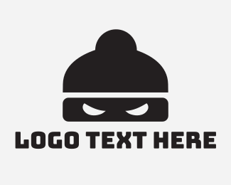 Man Bun - Ninja Mask logo design