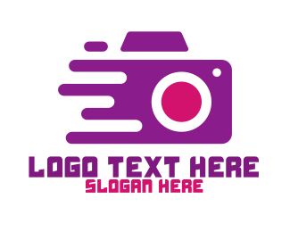 Purple Camera - Fast Camera Photography logo design