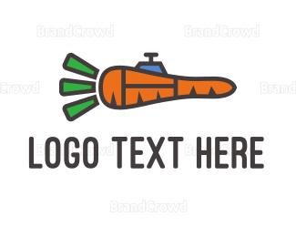 Carrot - Carrot Rocket  logo design