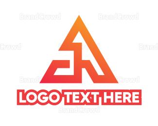 Ag - Triangle A Monogram logo design