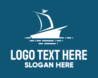 Vessel - Blue Ship logo design