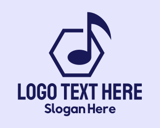 Musical Album - Musical Hexagon  logo design