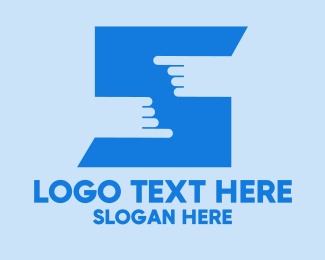 Clean Hands - Finger Touch Letter S  logo design