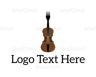 Instrument - Fork Violin logo design