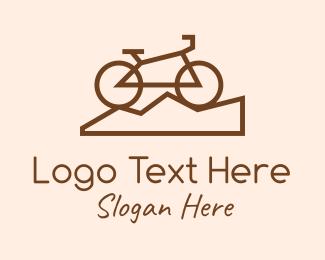 Biker - Brown Mountain Biker logo design
