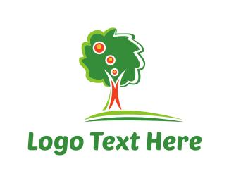 Apple Tree - Green Idea logo design