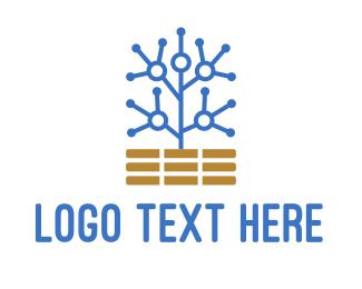 Brick - Circuit Tree logo design