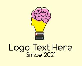 Intelligent - Smart Brain Book logo design